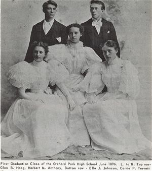 High School Seniors from 1896 pose for a photo