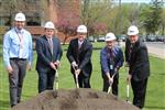 District Administrators breaking ground.