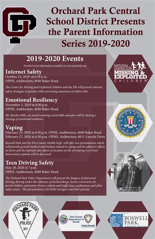 2019-2020 Parent Information Series Poster
