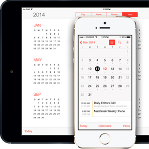 an iphone and a calendar
