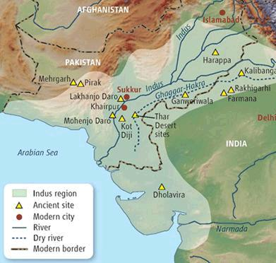 Project Links Indus Valley Indus And Sarasvati Rivers - World map indus river