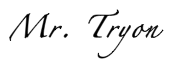 Mr. Tryon's signature
